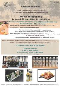 Workshop Atelier Chantal Comte:Rhums et whisky-Nimes-7 mars 2020
