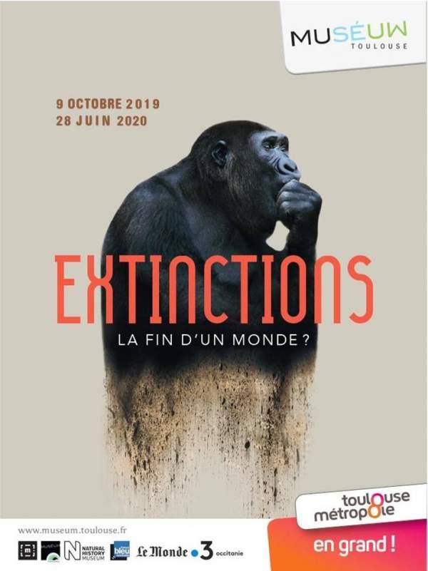Extinctions,le fin du monde....Muséum de Toulouse du 09 octobre 2019 au 28 juin 2020