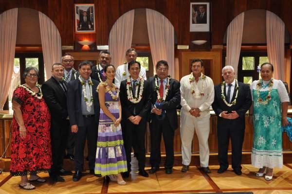 CESC Polynésie:Le nouveau président et son équipe