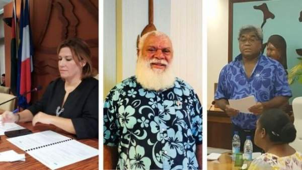 Les présidents et vice-présidents des 3 provinces de Nouvelle-Calédonie