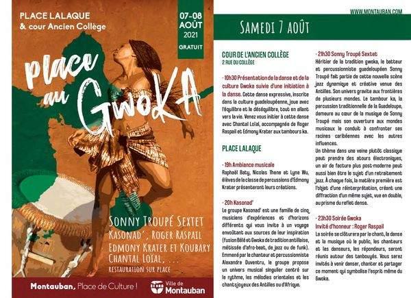 Festival place au GWOKA Montauban 7 au 8 août 2021
