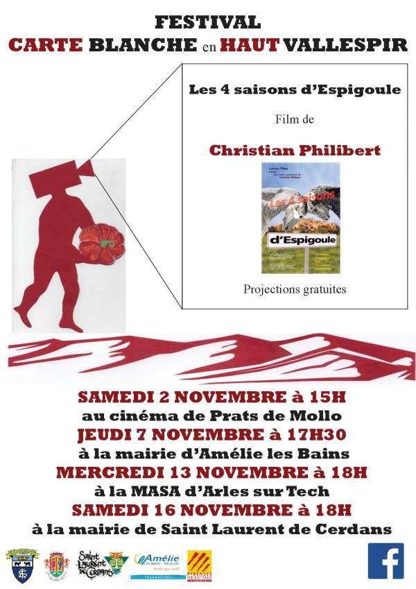 """Carte Blanche avec le film de Christian Philibert """"Les quatre saisons d"""