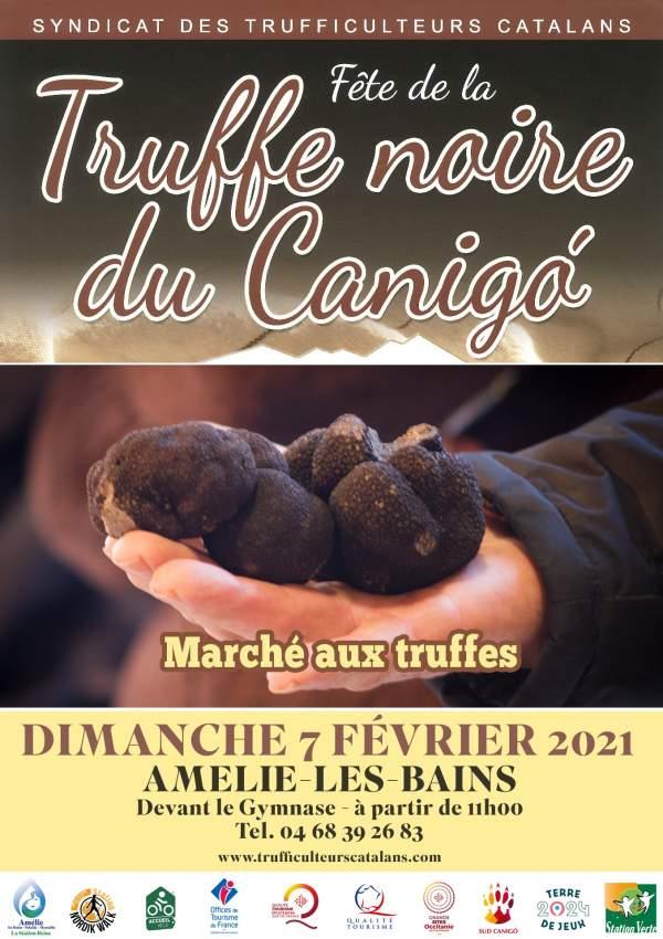 """Dimanche 7 février 2021 : """"Fête régionale de la Truffe Noire"""" à Amélie-les-Bains"""