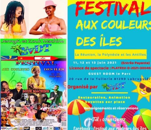 Festival aux couleurs des îles- Labruguière- 11/12/13 juin 2021