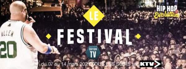 Festival HIP HOP EVOLUTION-édition digitale-7 au 14 mars 2021.