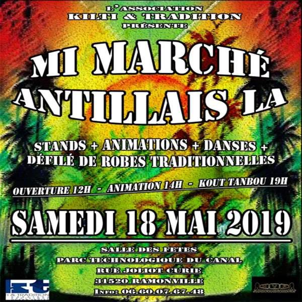 Marché antillais-Ramonville 31520-18 mai 2019