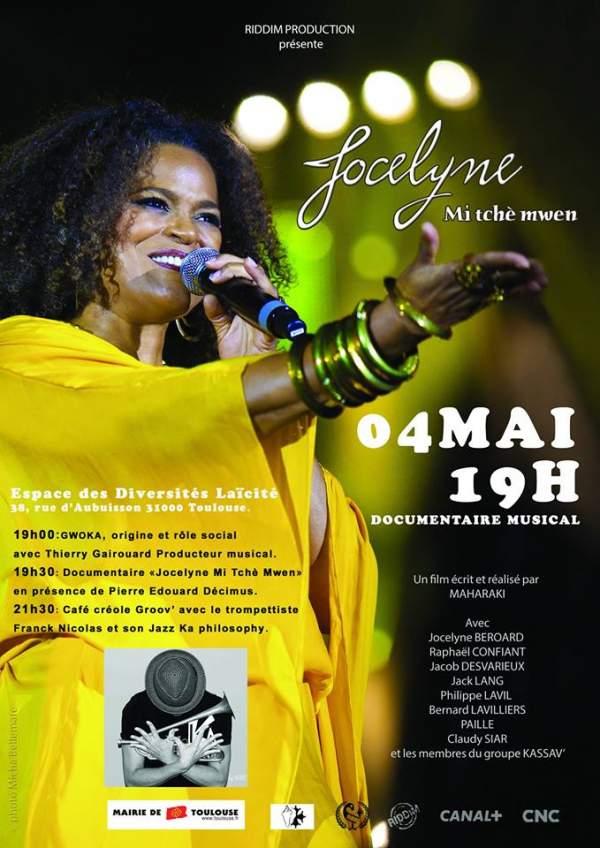Jocelyne  Mi tché mwen- Soirée avec documentaire musical-Toulouse-4 mai 2019